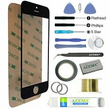 ACENIX® Black Touch Screen Front Lens Glass Replacement Kit For iPhone 4 / 4s