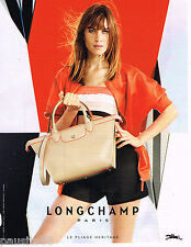 PUBLICITE ADVERTISING 065  2014  LONGCHAMP  collection SAC PLIAGE HERITAGE