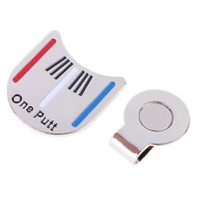 New Silver Golf Ball Marker Putting Alignment Aiming Tool with Magnetic Hat Clip
