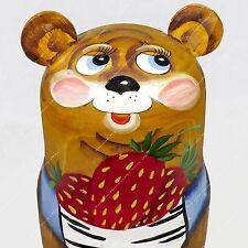 """5.5"""" BEARS MATRIOSHKA RUSSIAN 3 PIECE SET NESTING DOLLS MATRYOSHKA BABUSHKA 3PCS"""