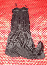 LIP SERVICE HOT TOPIC PETALS FROM THE TORTURE GARDEN BLACK HIGH LOW DRESS M NWT