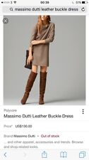 Massimo Dutti Leather Buckle Dress Size L (10-12) Worn Once Exc Condition