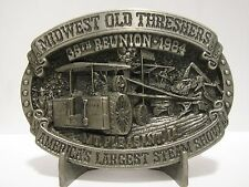 Midwest Threshers 35th Reunion 1984 Belt Buckle Ltd Ed Mt Pleasant Case Tractor