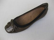 Clarks Womens Shoes NEW $95 Artisan Candra Glow Bronze Leather Ballet 7 M