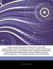 Articles on Northamptonshire Yeomanry Officers, Including: Leslie Howard (Act...