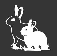 Rabbit Bunny Couple - Die Cut Vinyl Window Decal/Sticker for Car/Truck