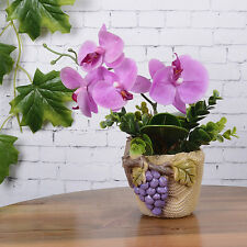 Artificial Green Rose Leaves/Butterfly Orchid Silk Leaf Beauty Plant Decor NEW W