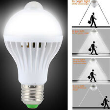 New LED PIR Motion Sensor Auto Lamp Bulb Infrared Energy Saving Light 5W E27