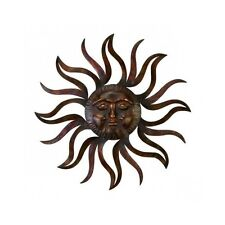 Large Metal Sun Patio Wall Decor Rustic Garden Art Indoor Outdoor Sculpture New