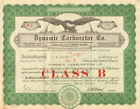Dynamic Carburetor Company 1929 Class B shares stock certificate