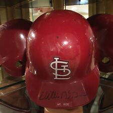 Game Used Willie McGee Helmet St Louis Cardinals Circa 1980s Signed