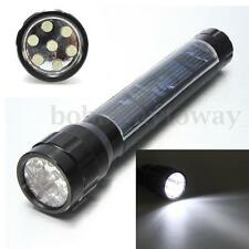 Super Solar Energy 7 LED High Power Flashlight Camping Lamp Light Torch Black