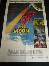 FROM THE EARTH TO THE MOON  original U.S ONE SHEET- SCI-FI  poster