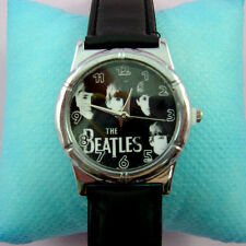 Wholesale The Beatles Fashion Black Wrist Quartz Watch Wristwatch + Badge
