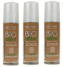 3 x Bourjois Bio Detox Organic Foundation 30ml  59 Light Brown