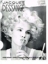 PUBLICITE ADVERTISING 1992  DESSANGE  COIFFEUR OFFICIEL DU 45 FESTIVAL DE CANNES