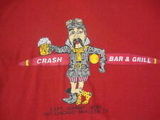 Vintage Crash Bar & Grill McAllen Texas airplane Beer Pilot soft thin T shirt M