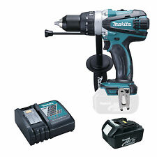 MAKITA 18V LXT DHP458 DHP458Z COMBI DRILL, BL1840 BATTERY AND DC18RC CHARGER