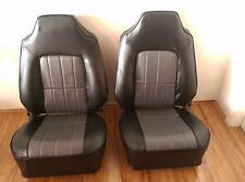 Holden Hq Hj Hx Hz Wb Bucket Seats Re trimmed  in black and grey dura trim