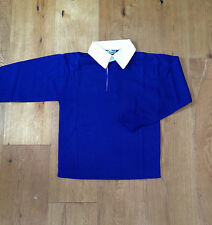 Rugby Shirt / P.E. Kit Blue School Brand New Size 36 Inches  Age 13-14   Q64