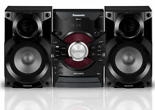PANASONIC 350W HI-FI SYSTEM BLUETOOTH DJ JUKEBOX DUAL USB PLAYBACK SC-AKX18