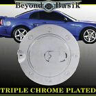 1999-2004 FORD MUSTANG Triple ABS Chrome Fuel Gas Door Cover Trim Overlay Caps