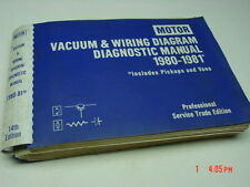 Old Motor Professional Service Trade Edition Vacuum & Wiring Manual 1980-81 Book