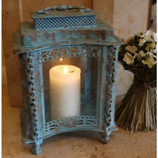 LARGE ANTIQUE STYLE  METAL LANTERN CANDLE HOLDER HOME WEDDING TABLE
