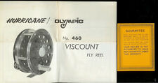Rare Vintage Hurricane Olympic 460 Viscount Fly Fishing Reel Owner's Manual