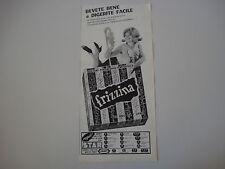 advertising Pubblicità 1964 FRIZZINA STAR