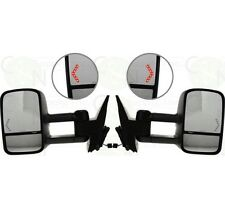 Towing Mirrors Power Heated Signal for 07-14 Chevy Silverado GMC Sierra - Pair
