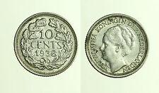 pcc1250_11) OLANDA 10 CENTS 1938 WILHELMINA I