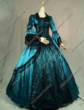 Renaissance Victorian Prom Gown Period Dress Theater Reenactment Clothing 142 XL