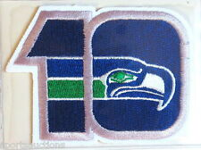 SEATTLE SEAHAWKS ~ 10th ANNIVERSARY NFL PATCH STAT CARD Willabee & Ward ~ 1985