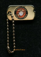 DOG TAG MIN US MARINES HAT PIN UP CHAIN GIFT GRADUATION MOM DAD SON DAUGHTER WOW