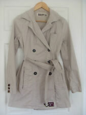 SUPERDRY Women's Mac / Trench Coat in Stone - Size XS - Great Condition!