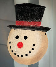 CHRISTMAS HOLIDAY SNOW MAN OUTDOOR LIGHT COVER PORCH PATIO FROSTY Yard Decor New