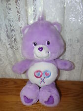 "13"" 2002 PLUSH PURPLE SHARE CARE BEAR LOLLIPOP BABY BOY GIRL 15""  GIFT TOY"