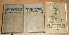 JUGENDSTIL: W. Bölsche: Liebesleben in der Natur, alle 3 Bände, 1901+1903