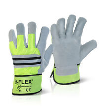 B-Flex Canadian High Quality High Visibility Rigger Gloves CANCHQHV