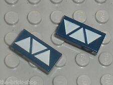 LEGO Star Wars NavyBlue tiles ref 3069bps8 - 3069bpx78 / Set 7283 7252