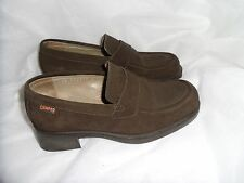 CAMPER WOMEN'S BROWN SUEDE LEATHER SLIP ON SHOES SIZE UK 2.5 EU 35 VGC