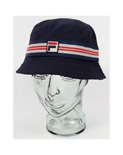 Fila Vintage Casper Bucket Hat in Navy Blue - festival hat, sun hat, 80s casual