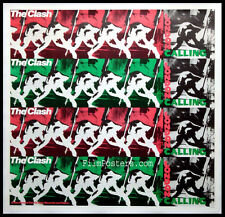 THE CLASH LONDON CALLING VINTAGE 1980 PROMO POSTER LINENBACKED