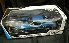 Greenlight 1968 Ford Mustang GT 2+2 Fastback  Blue 1/18 Jimbo's Go Go Gone