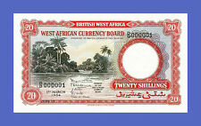 BRITISH WEST AFRICA - 20 Shillings 1954s -Reproductions