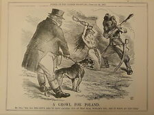 "7x10"" punch cartoon 1863 A GROWL FOR POLAND"