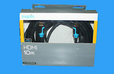 GENUINE MAPLIN HDMI HIGH SPEED WITH ETHERNET CABLE 10M RRP £79.99