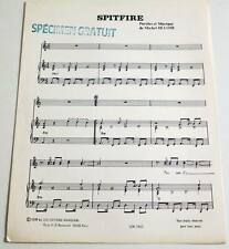 Partition vintage sheet music THE FLYING TIGERS : Spitfire * 70's DISCO