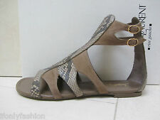 NIB YSL Yves Saint Laurent FLOWER  05 SNAKESKIN SUEDE Flats Sandals Shoes 36